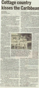 Cottage Country Kisses the Caribbean by Michael Fay in The Minden Times