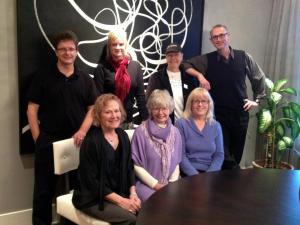 b: Peter Midgley, Kath Maclean, Susan Toy, Geo Takach F. Sue Hill, Alice Major, Cathie Crooks