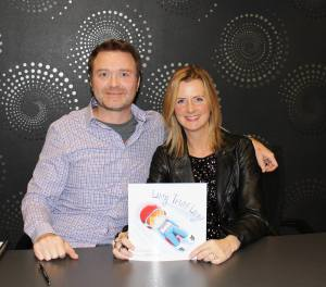 Illustrator, James Hearne, and author, Lisa Bowes - Lucy Tries Luge