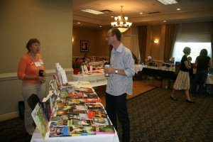 Speaking with author, Richard Harrison, at the first WWC.