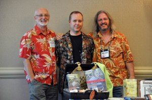 "Receiving some ""tropical"" support for my own novel at the second WWC."